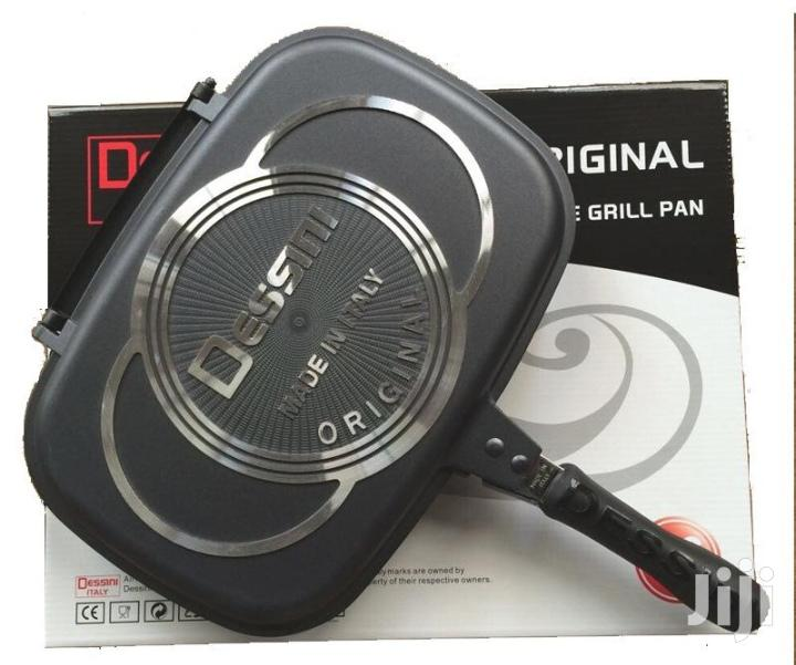 Double Grill Pan Double Frying Pan Double Sided Pan 40cm
