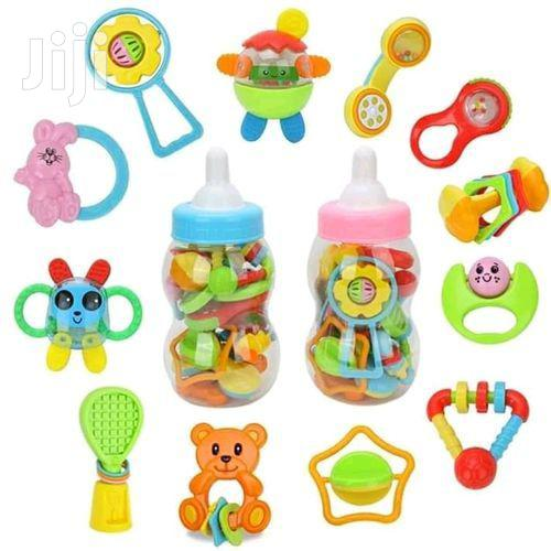 Baby Toy Set 12pcs Newborn Toys With Giant Bottle