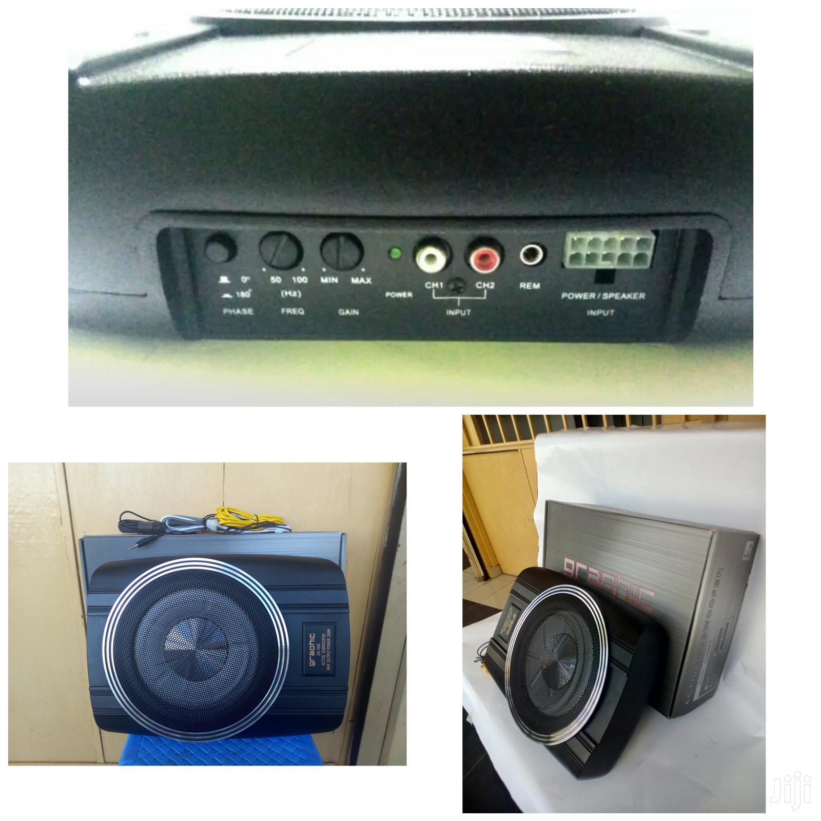 """Archive: Compact Powered Subwoofer: 250 Watts And An 8"""" Sub- Graphic"""