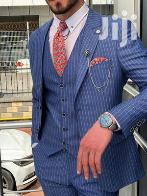 Designer Men's Suits - Executive Design Suits - Striped Blue   Clothing for sale in Nairobi, Nairobi Central