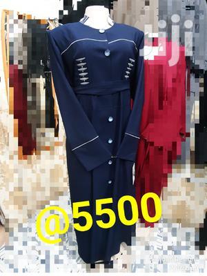 New Navy Blue Turkey Coat Abayas