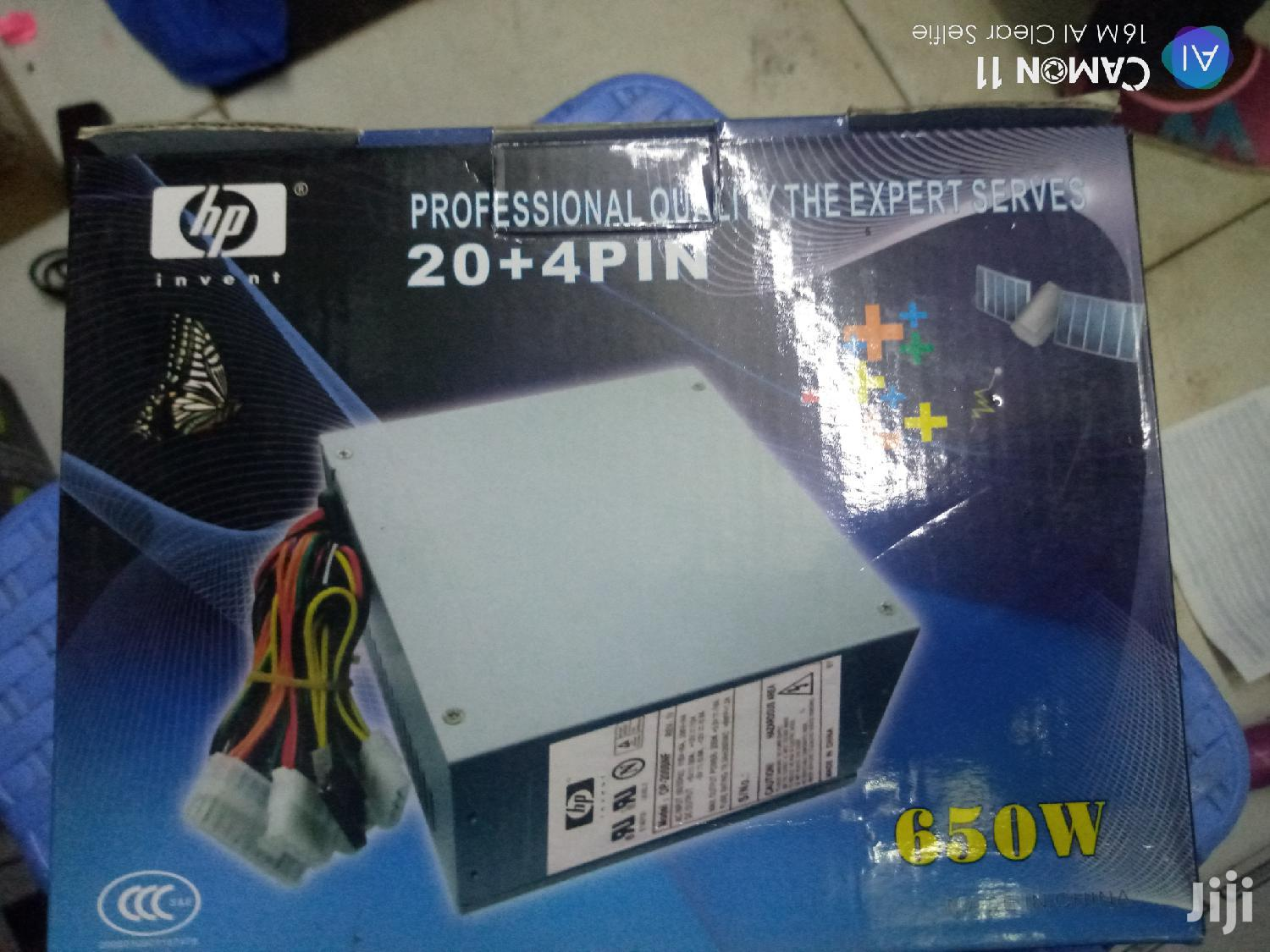 Power Supply With 24 Pin And 650w