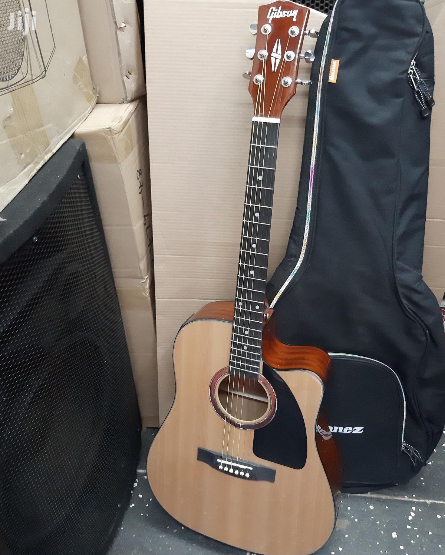 Semi Acoustic Guitar And Guitar Bag