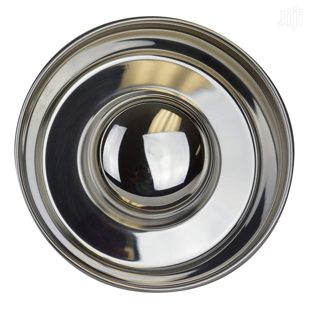 """Stainless Steel Pet Dog Slow Feed Bowls With Non Skid Base, 7"""" X 1.5"""" 