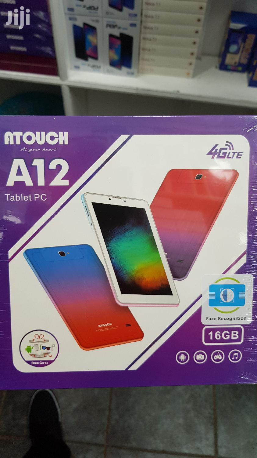 Kids Tablet Atouch A12 16gb 1gb Dual Sim Card 4G Android 6 Free Gift