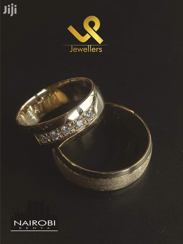Custom Made Classic 18k Gold Couple Bride N Groom Wedding Ring Bands