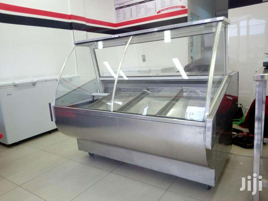 Meat Display Chiller Curved