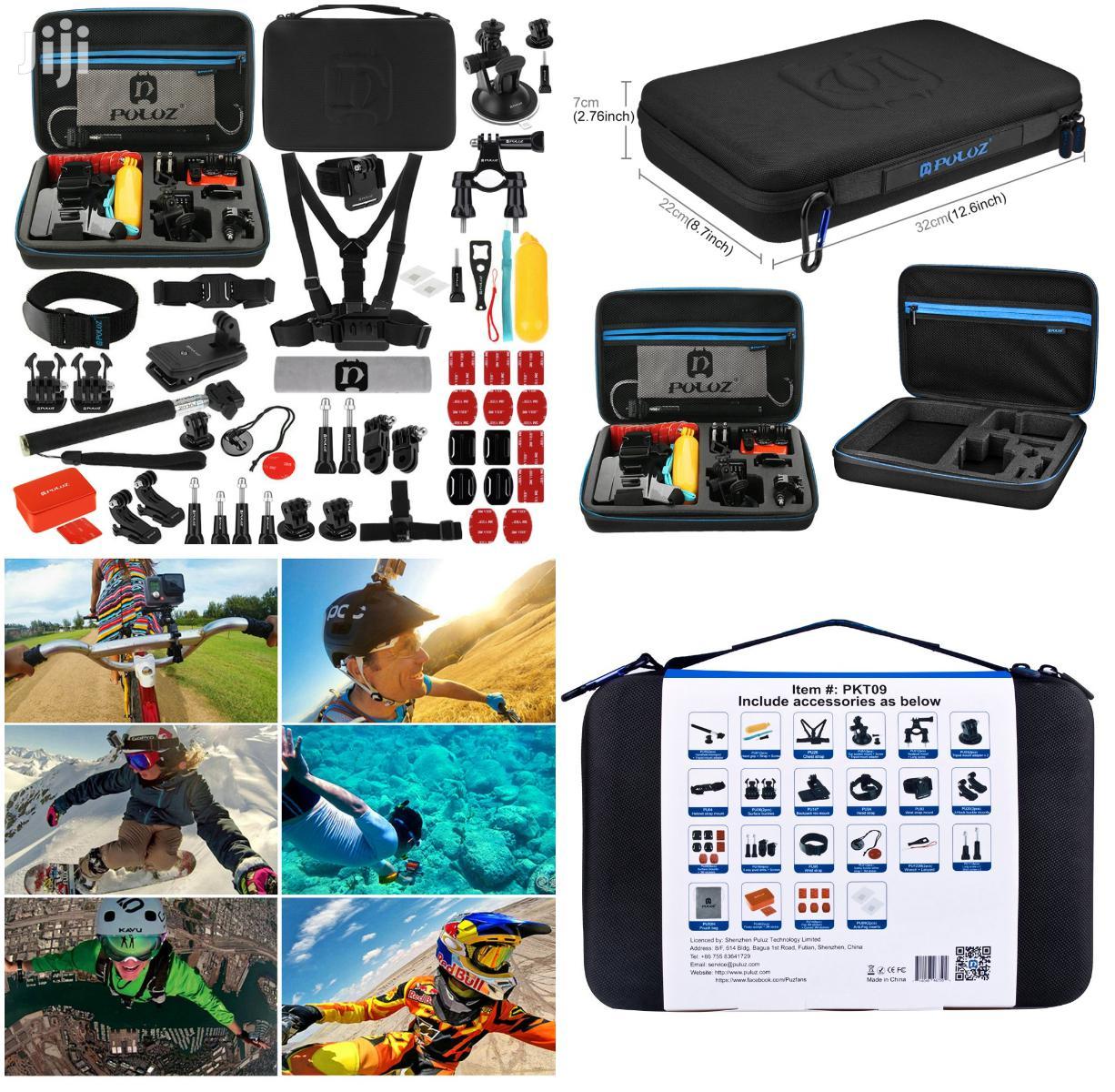 Accessories For Go Pro Hero 4/3+/3/2/1 PULUZ PKT09 53 In 1 Portable | Accessories for Mobile Phones & Tablets for sale in Mvita, Mombasa, Kenya