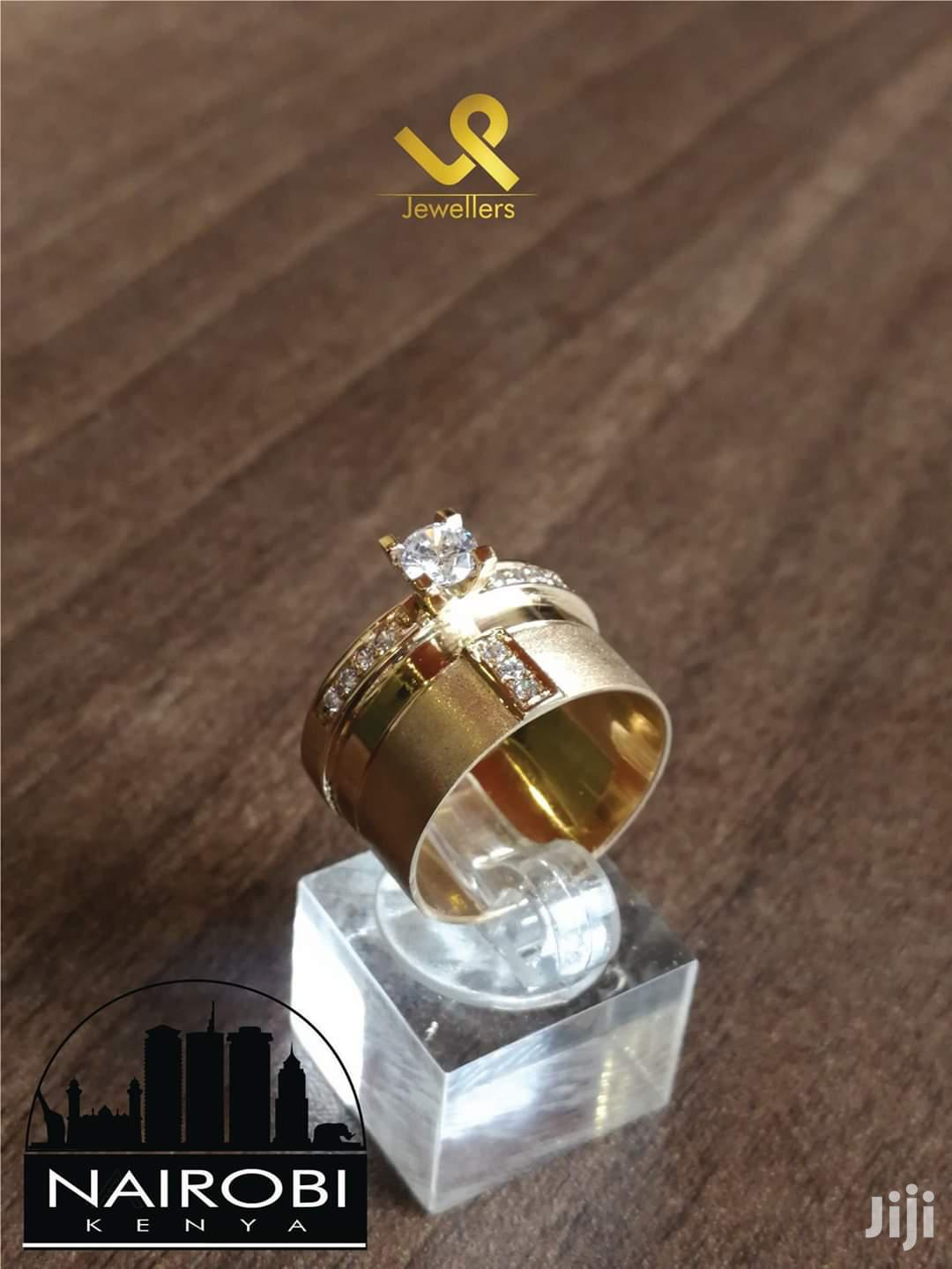 Ladies Bejewelled Engagement/Wedding Ring 18k Gold Custom Made. 12mm   Wedding Wear & Accessories for sale in Nairobi Central, Nairobi, Kenya