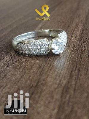 Ladies Clear Cz Ready Made Sterling Silver Engagement Ring   Wedding Wear & Accessories for sale in Nairobi, Nairobi Central