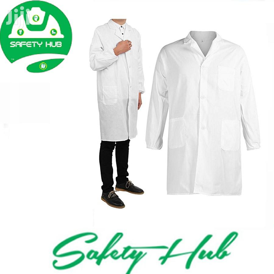 Kenyan Made White Dust Coats/ Lab Coats