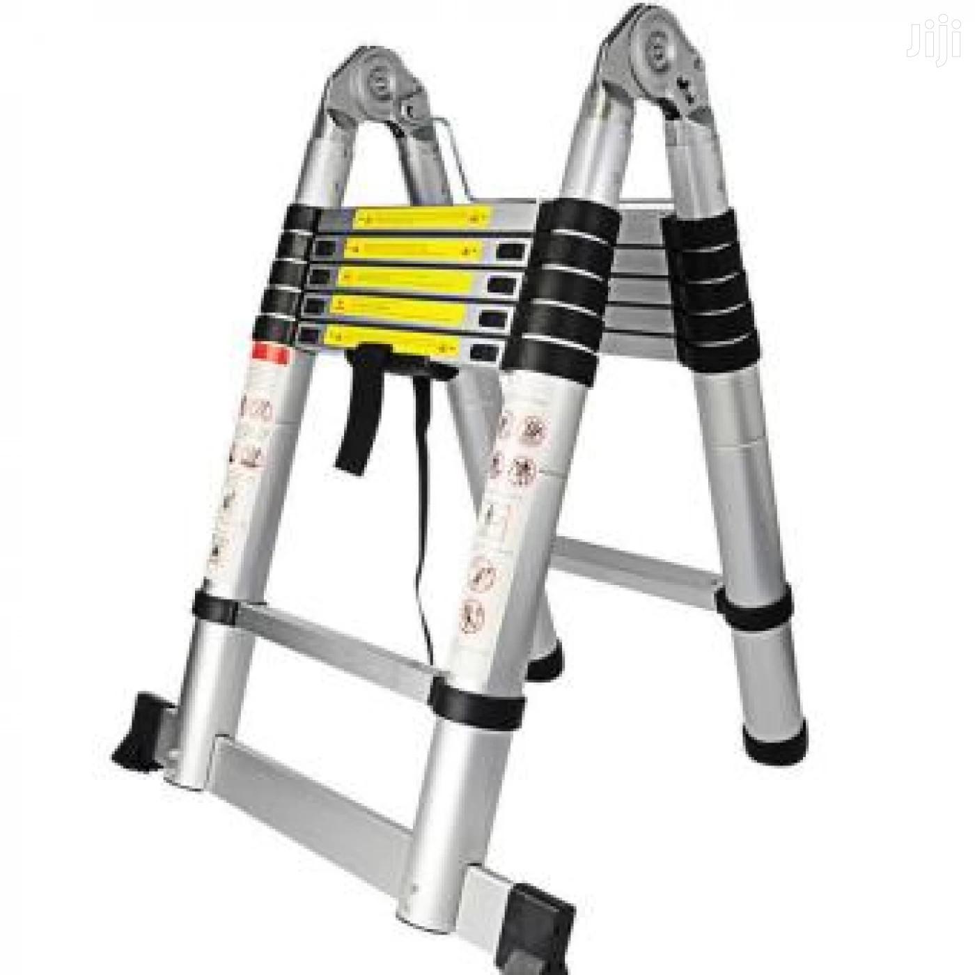 Telescopic Double Aluminum Ladder 12ft 3.8mts