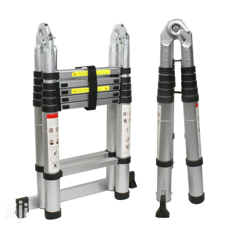 Telescopic Double Aluminum Ladder 12ft 3.8mts | Hand Tools for sale in Nairobi Central, Nairobi, Kenya
