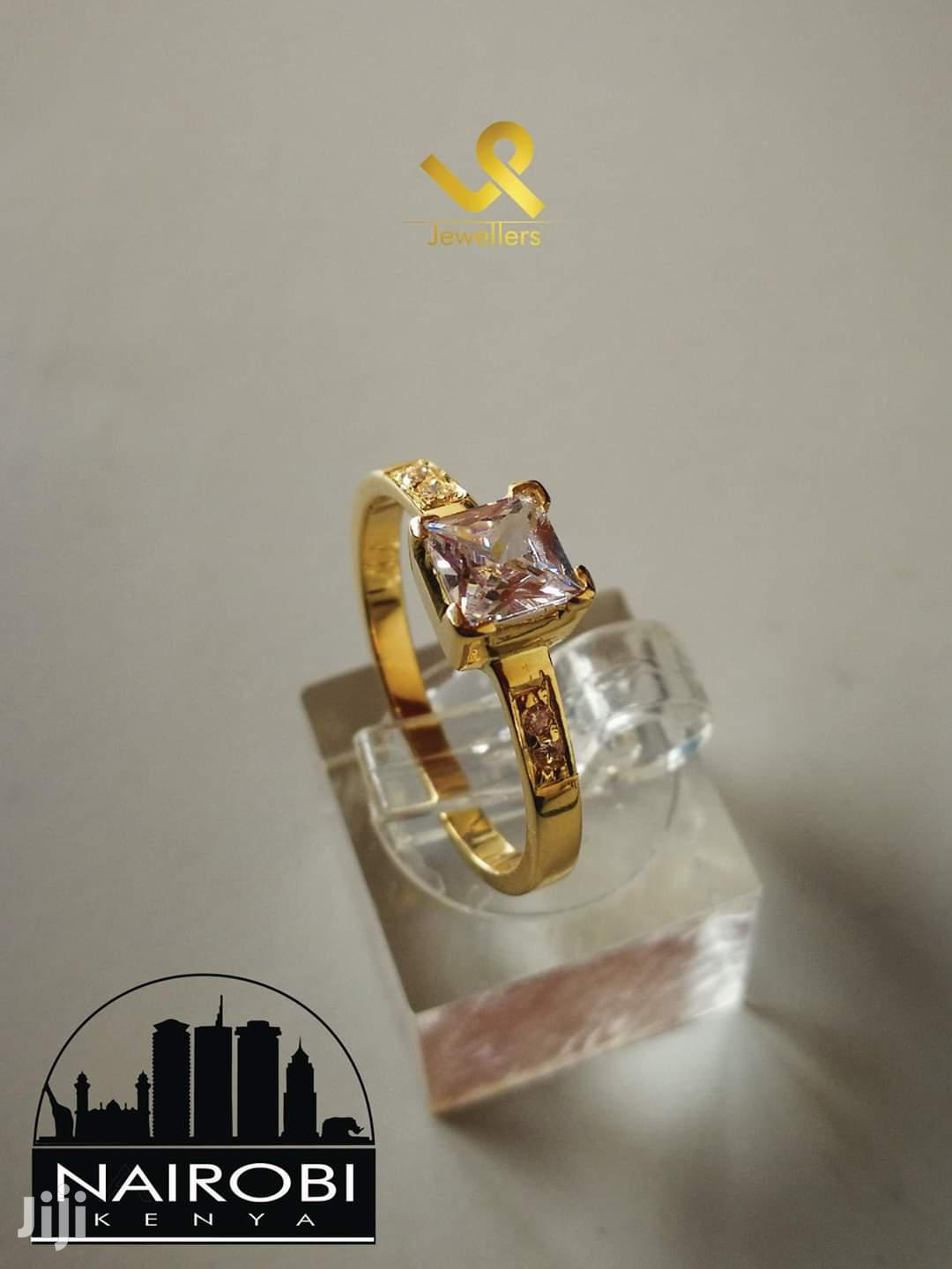 Ladies Custom Hand Crafted Yellow Gold Engagement Ring