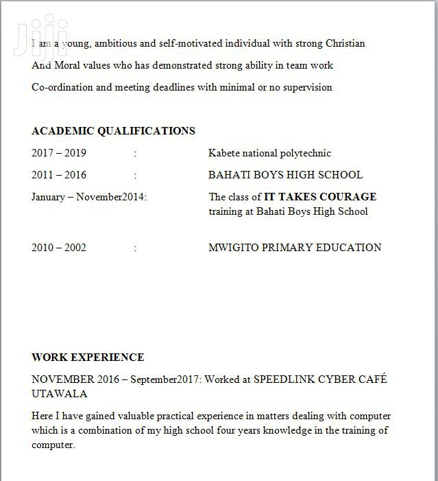 Personal Driver | Driver CVs for sale in Embakasi, Nairobi, Kenya