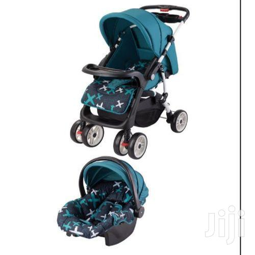 Superior 3in1 Value Pack Baby Stroller Set-blue Printed Plus Free Gift