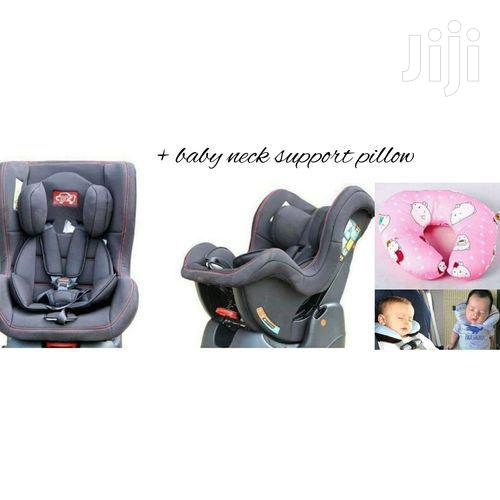 Reclining Baby Car Seat - Grey (0-5yrs) + A Baby Neck Support Pillow