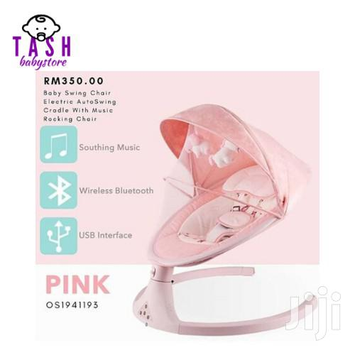 Electric Baby Swing Cot Automatic Baby Cradle Swing - PINK
