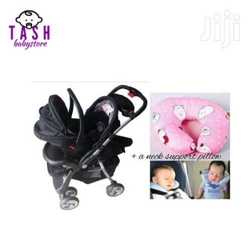 3 In 1 Value Pack Baby Stroller Set & An Assorted Neck Support Pillow