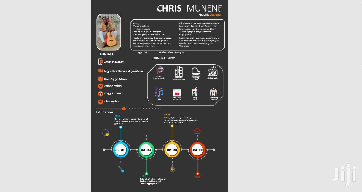 Arts & Entertainment CV