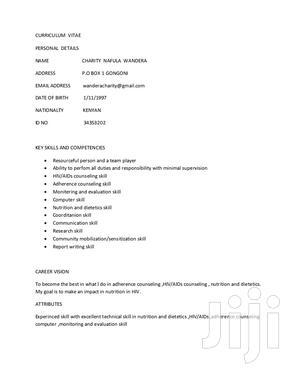 Advertising & Marketing CV | Health & Beauty CVs for sale in Mombasa, Kisauni