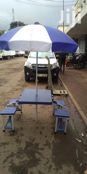 Portable Folding Picnic Table And Chairs Set With Umbrella | Camping Gear for sale in Nairobi, Nairobi Central