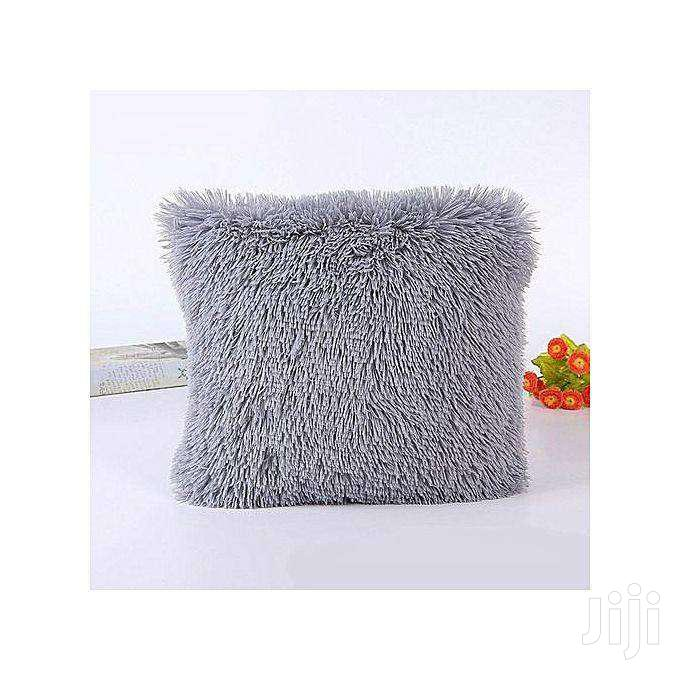 Decorative Fluffy Plush Throw Pillow Case Cushion Covers - 18'' X 18''