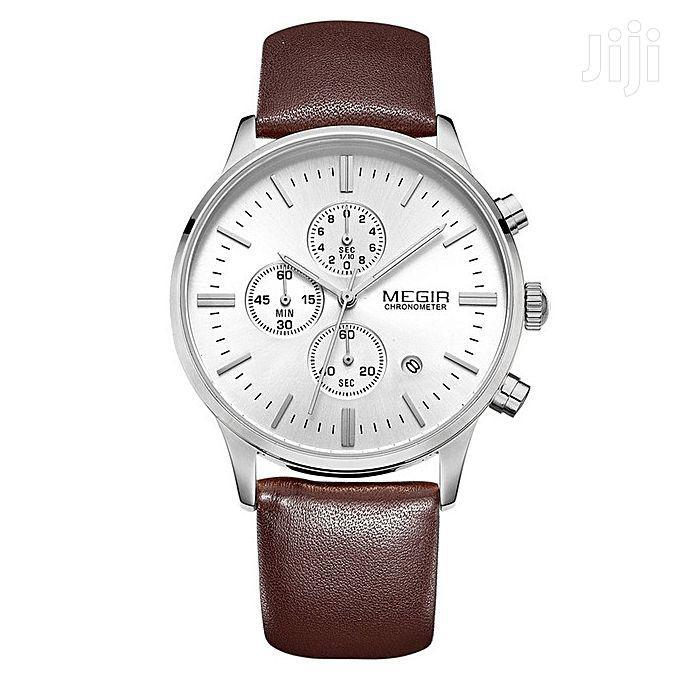 Megir Genuine Leather Band Quartz Wrist Watches | Watches for sale in Nairobi Central, Nairobi, Kenya