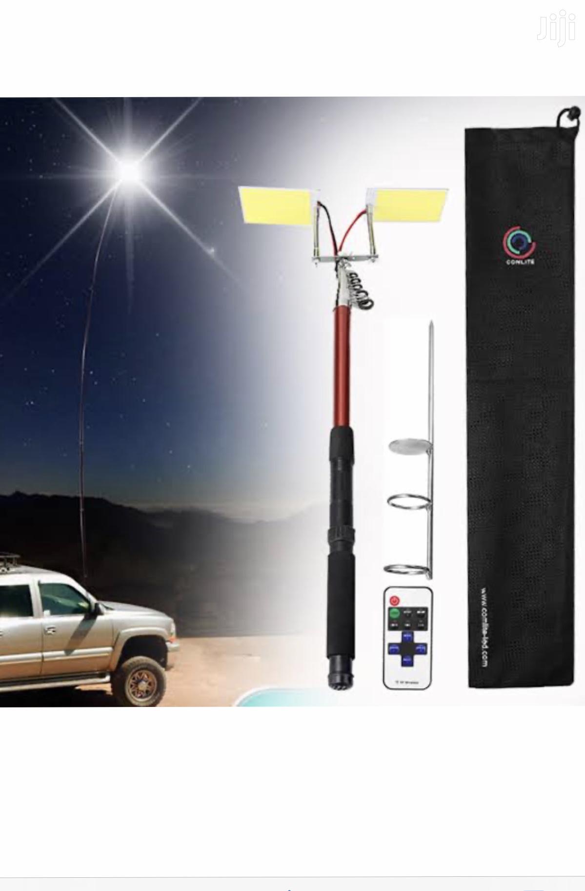 Telescopic Rod 4m Led Lights Fishing Camping Rod