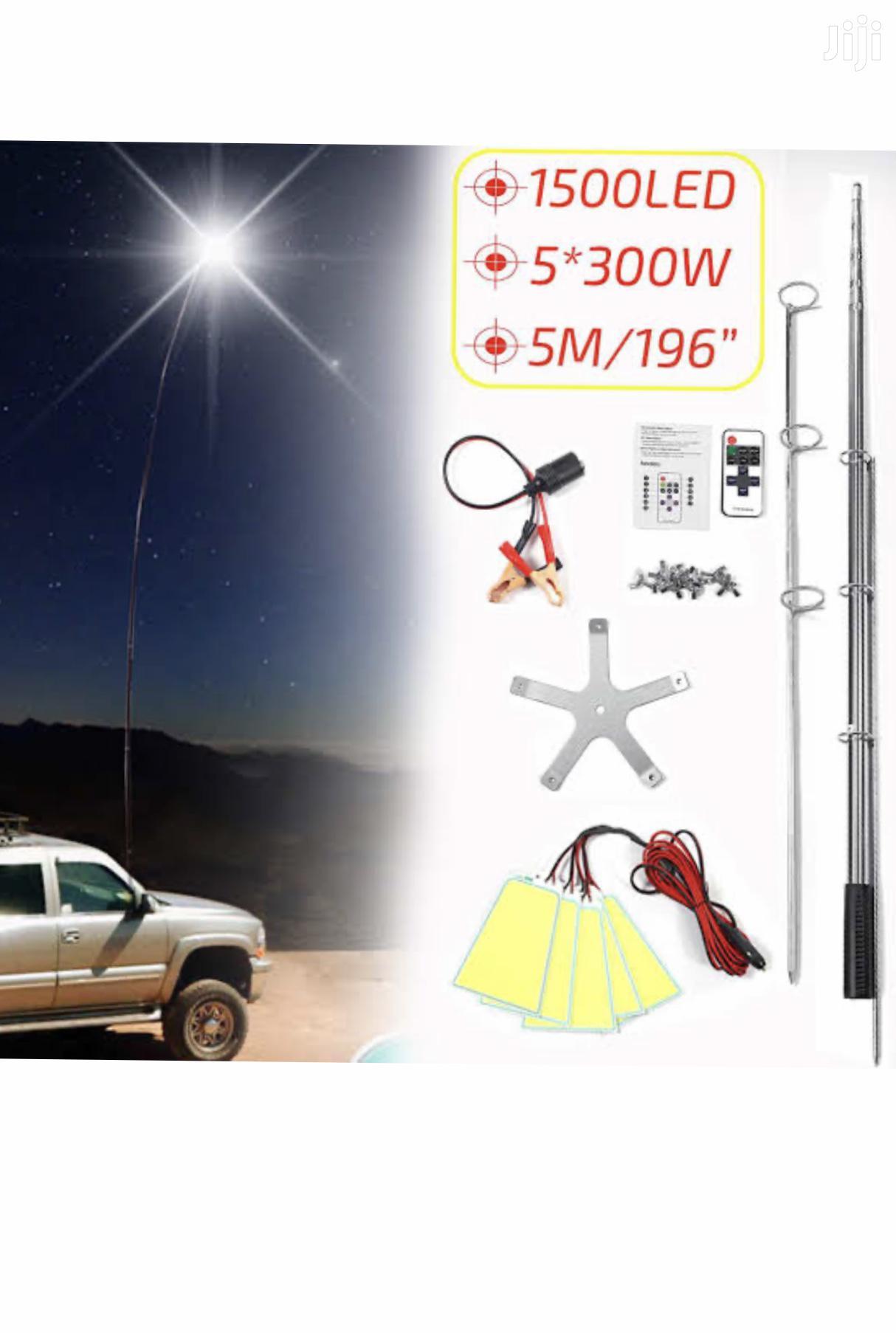 Telescopic Rod 4m Led Lights Fishing Camping Rod | Camping Gear for sale in Nairobi Central, Nairobi, Kenya
