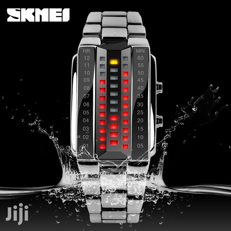 Skmei 1013 LED Watch Stainless Steel Strap