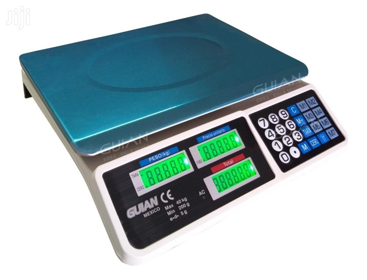 Digital Scale 40 Kg Tara Function Commercial Lcd Screen