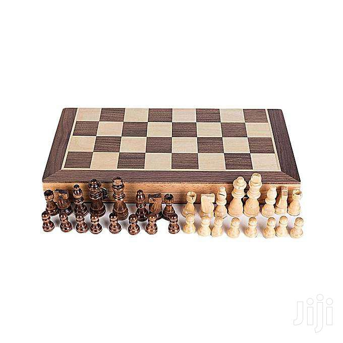 Chess Wooden Set Folding Chessboard Magnetic Pieces Wood Boar