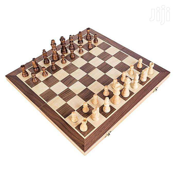 Chess Wooden Set Folding Chessboard Magnetic Pieces Wood Boar | Books & Games for sale in Nairobi Central, Nairobi, Kenya