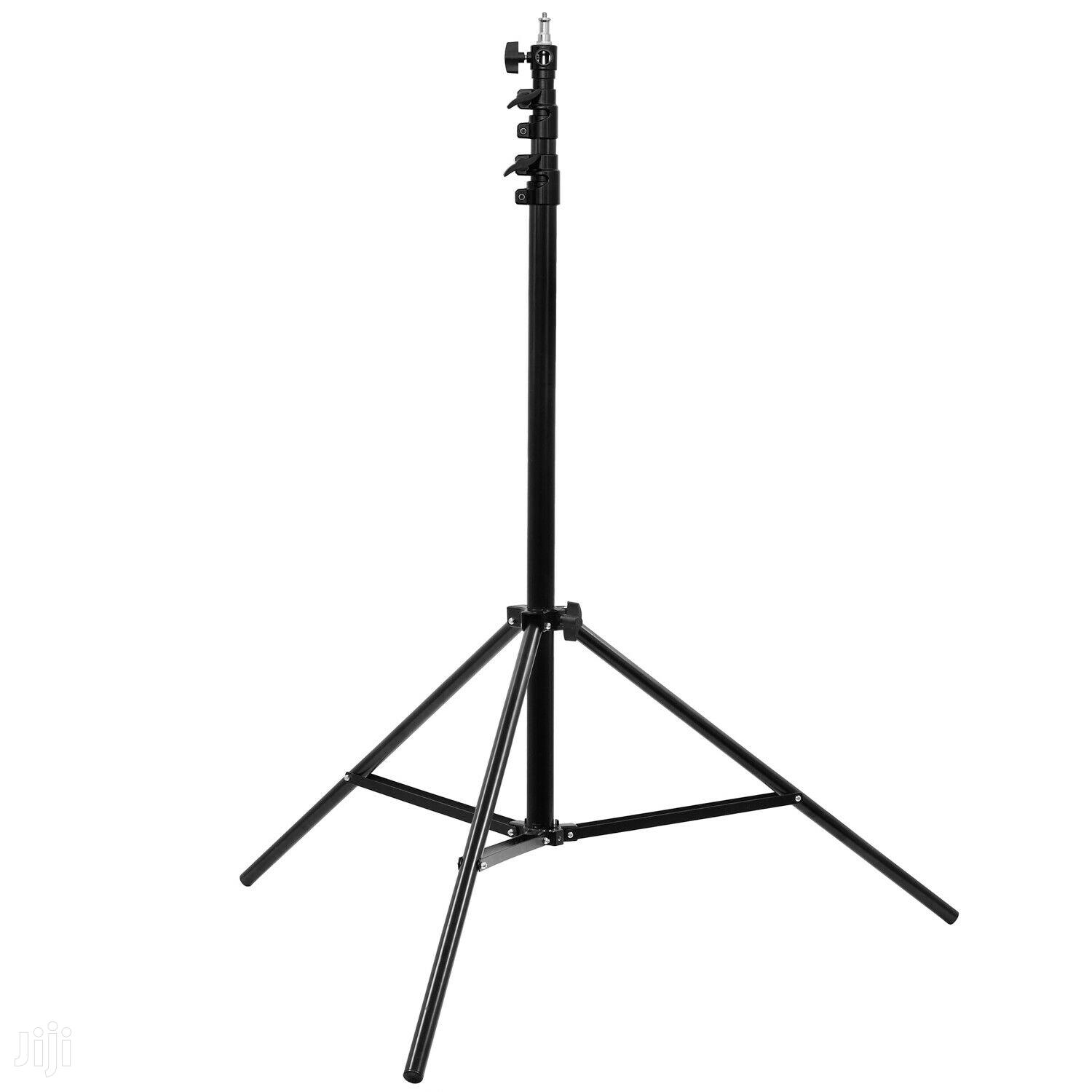 """2.8m Air Cushioned Light Stand With 1/4"""" And 3/8"""" Spigot Adapter"""