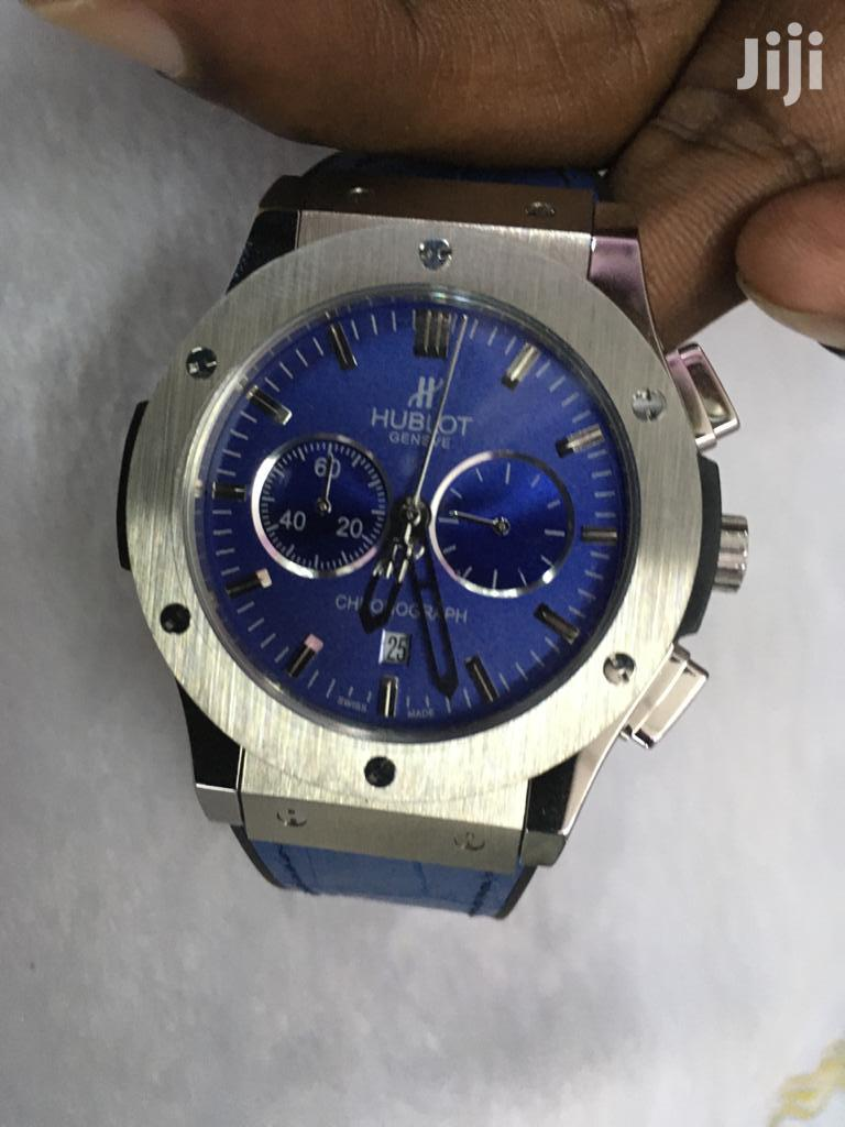 Blue Chrono Hublot Gents Watch