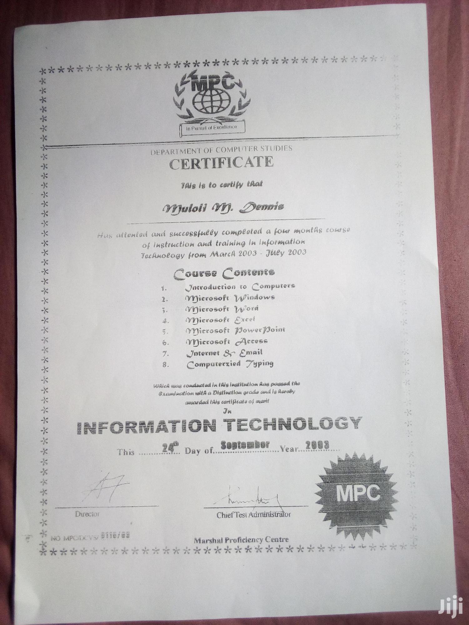 Personal Driver   Driver CVs for sale in Dagoretti, Nairobi, Kenya
