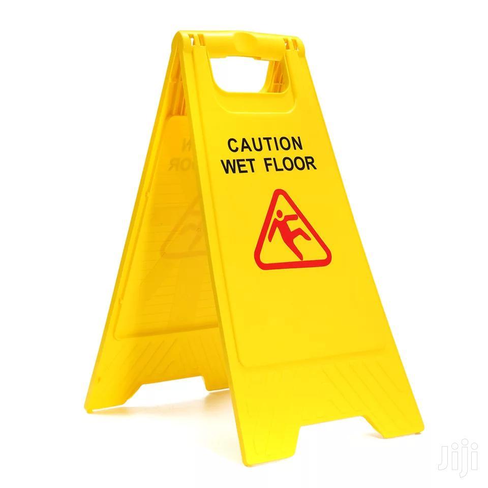 Caution Wet Floor Board