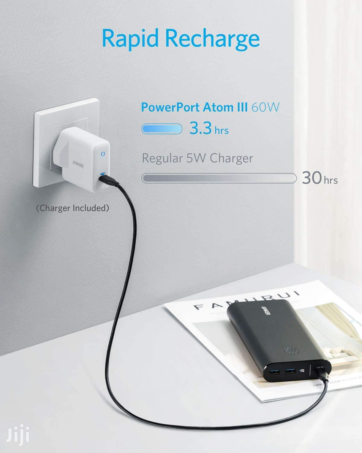 Anker Powercore+ 26800 PD 45W With Powerport Atom III 60W – Combo Pack   Accessories for Mobile Phones & Tablets for sale in Westlands, Nairobi, Kenya