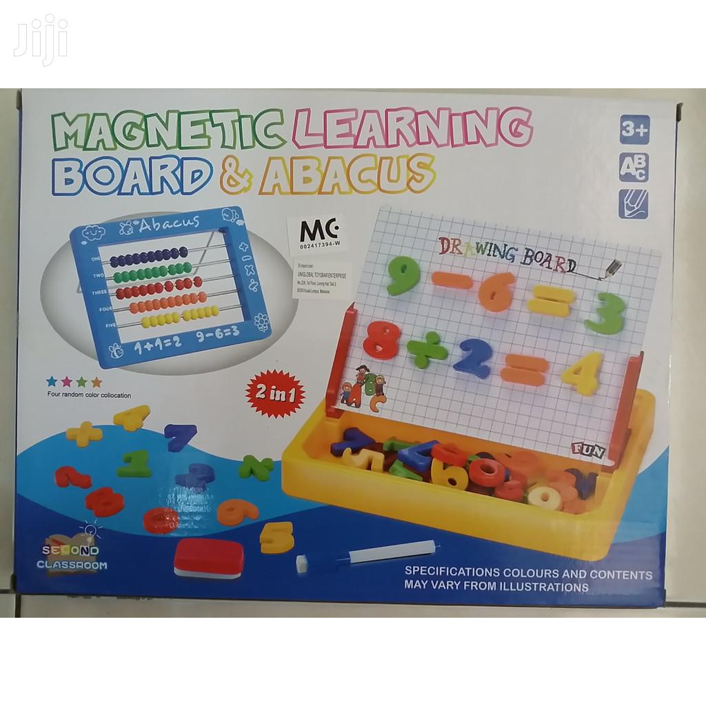 Magnetic Learning Board and Abacus