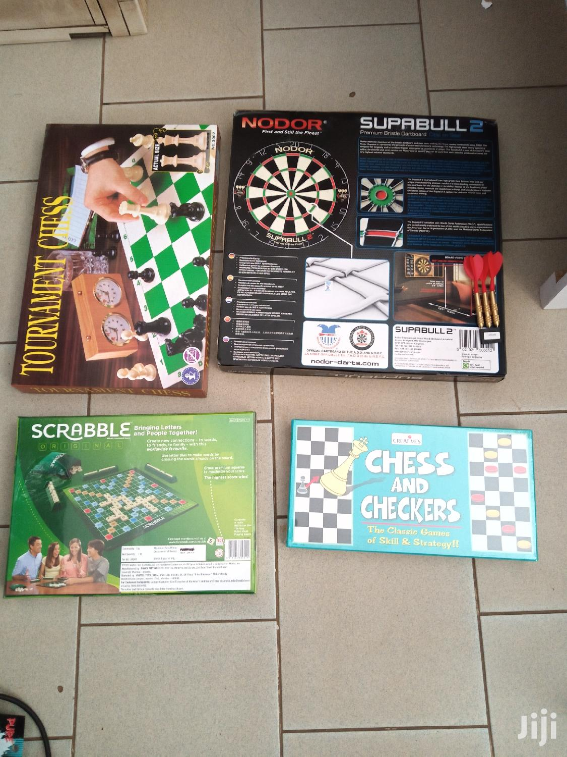 Archive: Darts Board,Scrabble,Chess