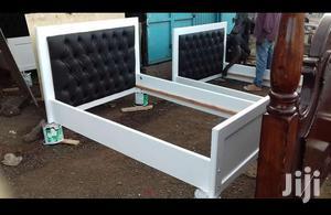 White Bed With A Flat Headboard   Furniture for sale in Nairobi, Kasarani