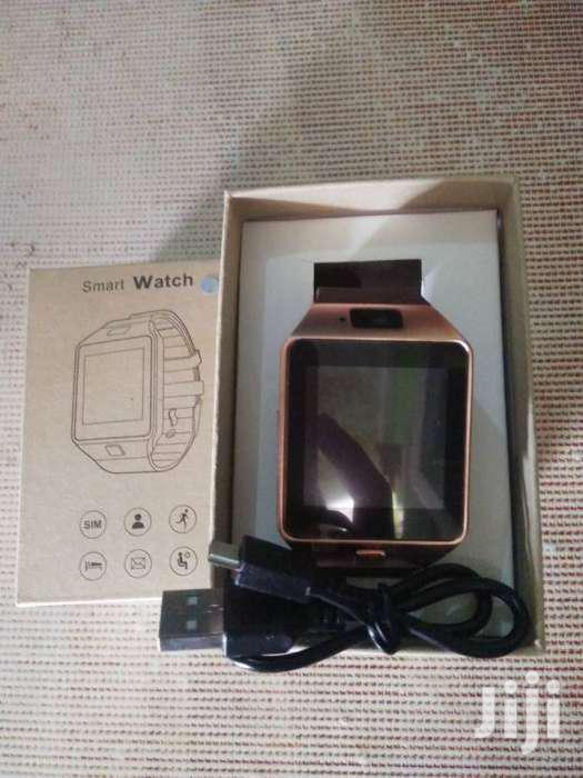 Gold Colour Dz09 Smart Watch Touch Screen