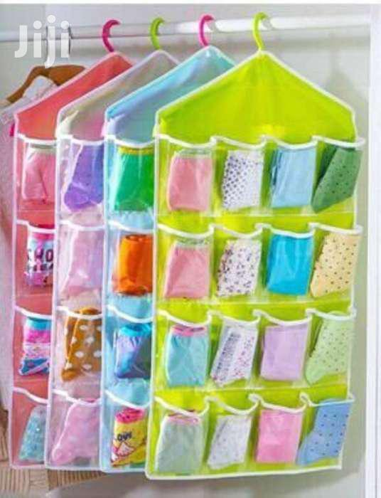 Archive: Personal Accessories Organizer Hanger - Set Of 16 Pockets - 1 Pc