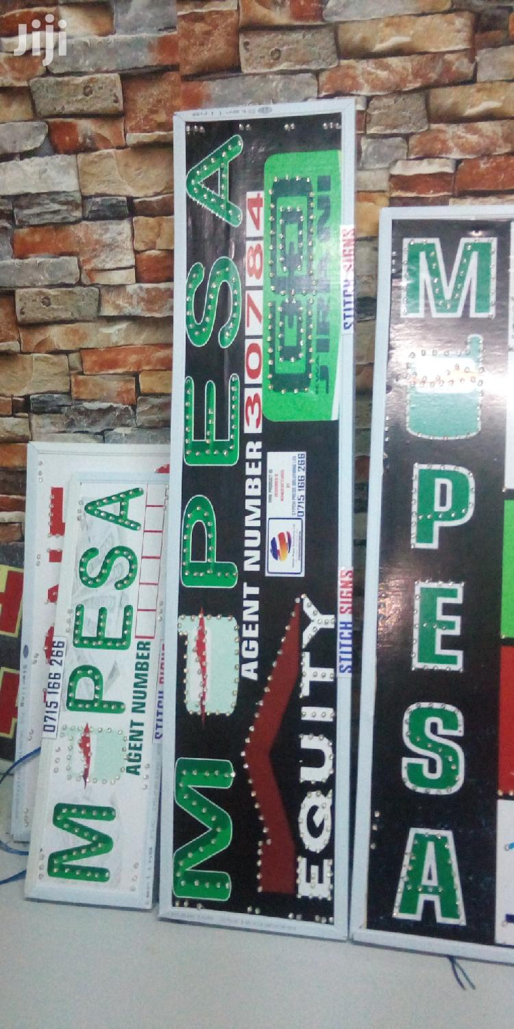 Mpesa Signboards | Manufacturing Services for sale in Nairobi Central, Nairobi, Kenya