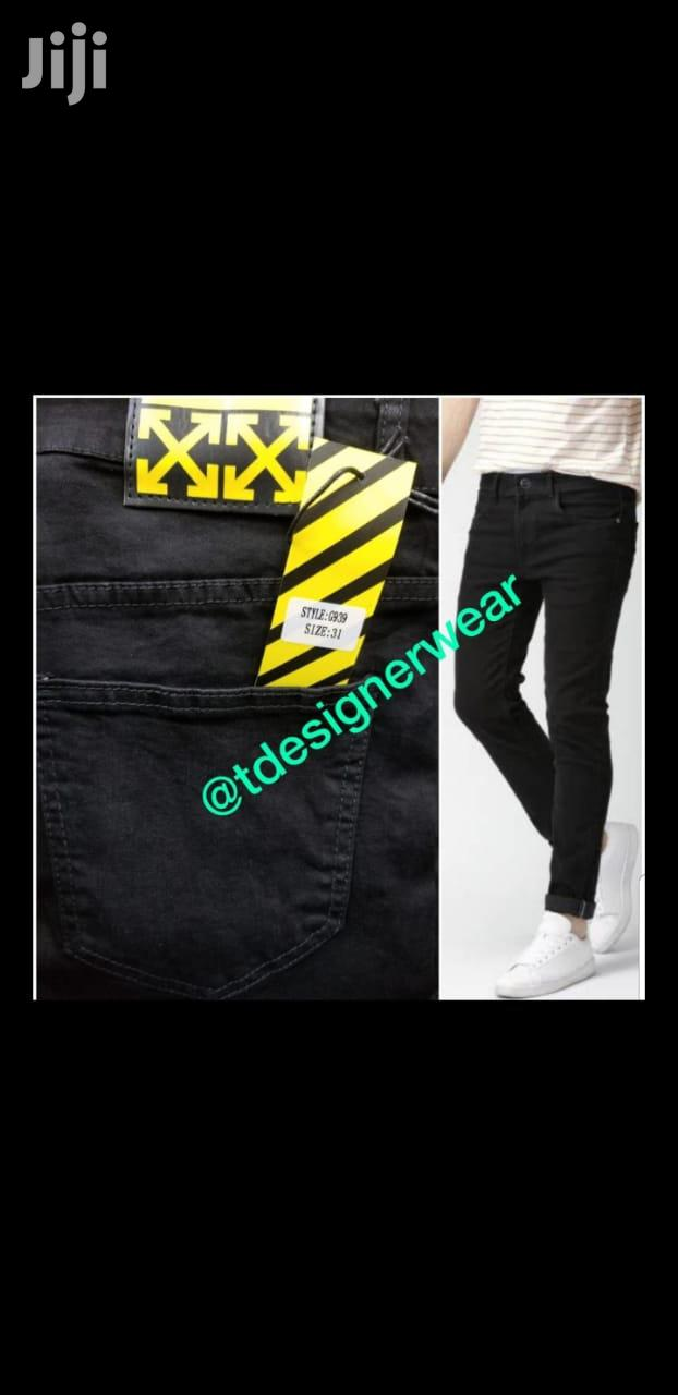 Slimfit Off-white Jeans