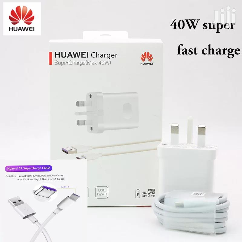 Original Huawei 40W Fast Wall Charger USB C Cable for P30 Pro,Mate 30,