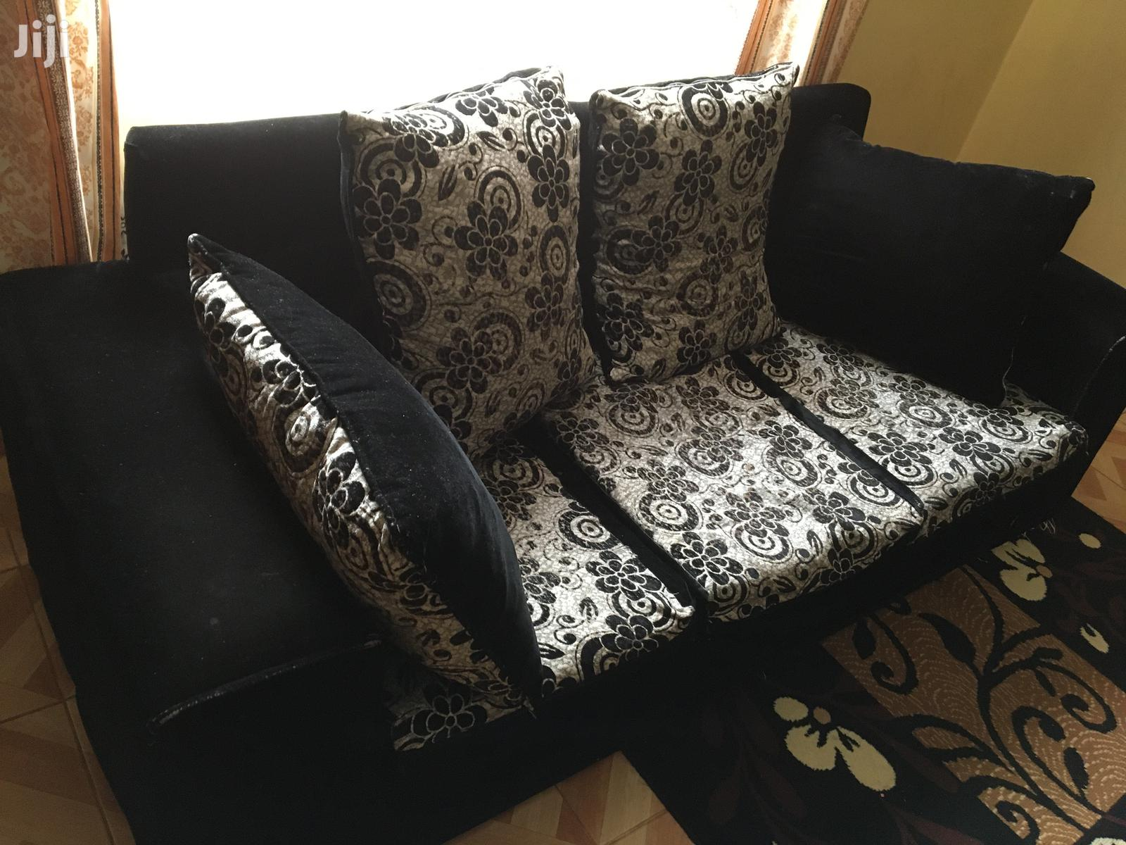 Archive: 5 Seater Velvet Sofa Set With a Foot Rest