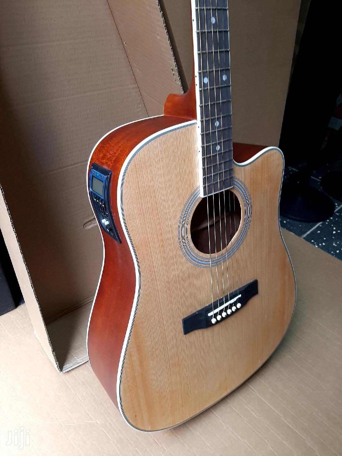 Ebanez Full Size Semi Acoustic Box Guitar With Inbuilt Tuner | Musical Instruments & Gear for sale in Nairobi Central, Nairobi, Kenya