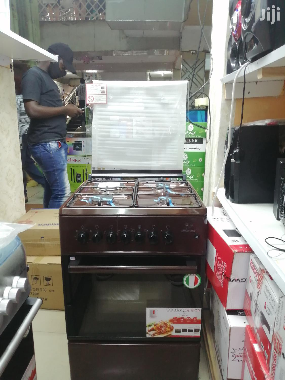 Masterchef Standing Cookers, 3 Gas 1 H.Plate, Electric Oven, 60x60cm
